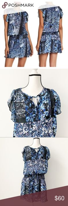 SIZE 12 BNWT M/&S NIGHTSHADE BLUE VEST TOP WITH ANIMAL PRINT LIGHT FABRIC