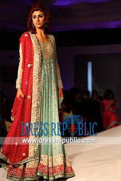 Beige Aqua Vagant, Product code: DR8415, by www.dressrepublic.com - Keywords: Anarkali Dresses USA, Anarkalee Dresses Collection UK, Designer Anarkali Suits Canada