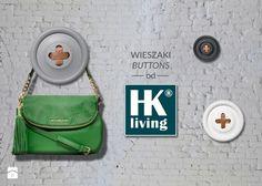 Wieszaki Guziki holenderskiej marki HK LIVING - zdjęcie od Casa Bianca