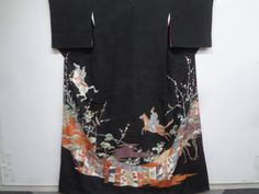 SILK / ANTIQUE HIKIZURI / with HIYOKU / DYED SHO CHIKU BAI