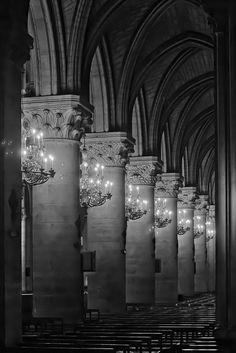 Notre Dame de Paris by Marian Boulogne Black White Photos, Black And White Photography, Monuments, I Love Paris, Cathedral Church, Jolie Photo, Beautiful Architecture, Kirchen, France Travel