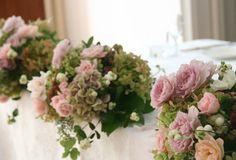 装花 バラ「フォルム」 秋の装花 メインテーブル