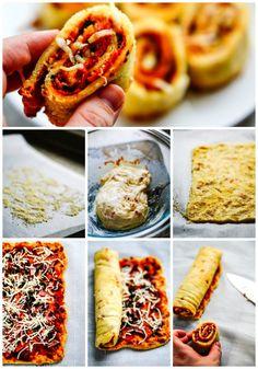 Fathead Pizza Rolls - Low Carb & Gluten Free #keto #ketogenic #pizza #rolls #fathead #gluten #free #atkins #healthy #recipe
