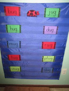 Snug as a Bug in a Rug Pocket Chart Game