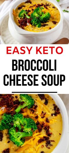 Comfort food without the carbs? Count me in! This Low Carb Broccoli Cheese Soup is every bit as good as the original. So much creamy, cheesy goodness will keep you coming back for more. #kickingcarbs #ketosoup #easyrecipes #ketodinnerrecipes Gluten Free Recipes For Breakfast, Healthy Gluten Free Recipes, Gluten Free Dinner, Low Carb Recipes, Real Food Recipes, Keto Broccoli Cheese Soup, Cream Of Broccoli Soup, Chowder Recipes, Soup Recipes