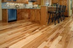 honey maple cabinets hickory floors - Google Search