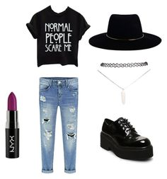 """AHS"" by sweetaraihc ❤ liked on Polyvore featuring Steve Madden, Zimmermann and Wet Seal"