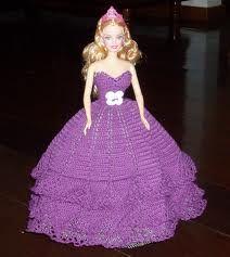 CREACIONES Y RECICLAJE CECILIA: Mis creaciones... Mis vestidos de Barbie tejidos a Crochet