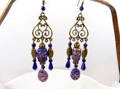 Boucles d'oreilles médiévalesethniques rustiques par MesOdalisques