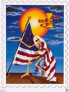 Grateful Dead One Dead Cent Stamp 1991 Music Poster 22x29