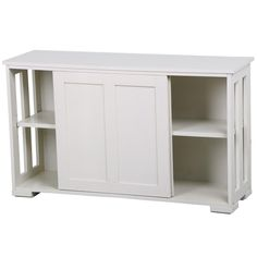 Yaheetech Antique White Sliding Door Buffet Sideboard Stackable Cabinets with Adjustable Shelf Kitchen Dining Room Storage Cupboard Dining Room Storage, Dining Room Buffet, Dining Room Furniture, Kitchen Dining, Kitchen Buffet, Dining Plates, Apartment Furniture, Console Table, Furniture Design