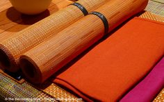 Vibrant Orange & Bright Pink Chilewich Table Linens & Place Settings