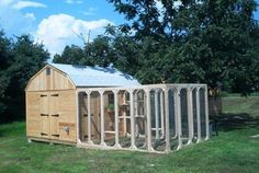 This larger enclosure by Safe Kitty is attached to the shed. If cats cannot enter an enclosure directly from your home, it's best to put them in a carrier to transport them safely across the yard and into the enclosure.