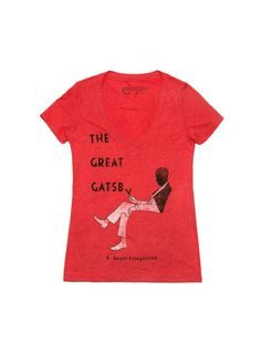 96743daaa0da This tee really speaks for itself. from Eternal Weekend · Look what I found  from Out of Print! The Great Gatsby women s Lewis edition red