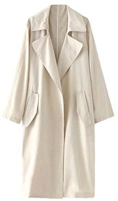 Winwinus Womens Slim Belted Stitching Wool Long Sleeve Outdoor Coat