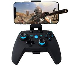 Manette pour Android/iOS/PC/PS3/TV Sans Fil Maegoo Bluetooth Android iOS(11.3-13.3 Version) Mobile Game Manette 2.4G Sans Fil Manette PC/PS3/TV Gamepad avec Double Vibration