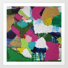 home - abstract painting Art Print by mothball charlie - $17.68