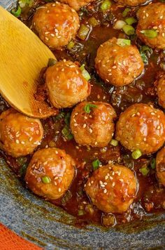 Slimming Slimming Eats - Apricot Chicken Meatballs - gluten free, dairy free, Slimming World and Weight Watchers friendly Low Calorie Recipes, Diet Recipes, Chicken Recipes, Cooking Recipes, Healthy Recipes, Turkey Recipes, Meatball Recipes, Healthy Dinners, Slimming Eats