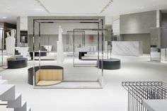 One of Japanese design studio Nendo's biggest projects to date is 'Siam Discovery': the total refurbishment of the exterior and interior of a stylish retail. Retail Interior, Interior Exterior, Bauhaus, Siam Discovery, Flooring Sale, Retail Store Design, Stand Design, Booth Design, Banner Design