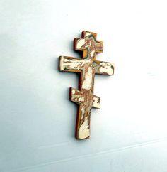 Greek Cross Religious Decor Russian Cross by woodwallcross on Etsy
