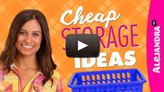 [VIDEO]: Cheap Storage Ideas – Dollar Store Haul from http://www.alejandra.tv/blog/2014/09/video-cheap-storage-ideas-dollar-store-haul/?utm_source=Pinterest&utm_medium=Pin&utm_content=CheapStorageIdeasDollar&utm_campaign=WeeklyVideo