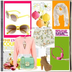 Pastel heaven, created by christina-chrysandrea on Polyvore
