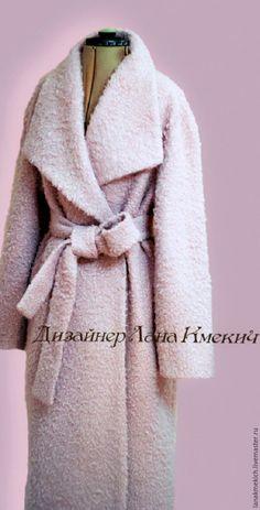"""Купить Пальто халат зимнее с утеплителем """"Новогодний Зефир"""" - бледно-розовый, однотонный, пальто розовое Coats For Women, Clothes For Women, Merian, Girls Winter Coats, Sheepskin Coat, Autumn Clothes, Wrap Coat, Abaya Fashion, Coat Dress"""