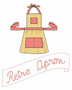 How to make a retro inspired apron . Free tutorial with pictures on how to make a full apron in under 60 minutes by sewing and dressmaking with fabric, thread, and sewing machine. in the Sewing section Difficulty: Simple. Co. Apron Pattern Free, Retro Pattern, Vintage Sewing Patterns, Apron Patterns, Dress Patterns, Retro Apron, Aprons Vintage, Sewing Tutorials, Sewing Projects