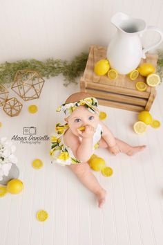 6 Month Old Photography Sitter Photography, Sitter Session, 6 Month Old Photoshoot, Lemon Minis, Lem Old Photography, Baby Girl Photography, Portrait Photography, Family Photography, 1st Birthday Photoshoot, Photoshoot Themes, Toddler Photoshoot Girl, Monthly Baby Photos, Baby Girl Photos