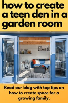 Top tips for creating a teenage garden den/ room/bolt hole to create extra space for your growing family. A dedicated space for music, homework, sleepovers, games consoles! Garden Log Cabins, Den Room, Teenage Room, She Sheds, Create Space, Sleepover, Room Interior, Man Cave, Family Room