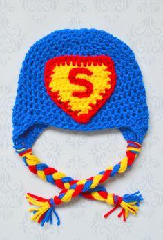 newborn superman hat by SweetBabiesinYarn on Etsy, $20.00