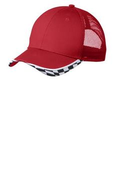 Port Authority C903 - Checkered Racing Mesh Back Cap  portauthority  racer   headwear Author 1774c536615a