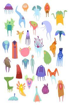 Creatures by Anita Tung, via Behance