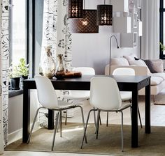 IKEA BJURSTA dining table and LEIFARNE chairs.