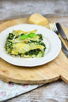 Spinat Lasagne mit Gorgonzola