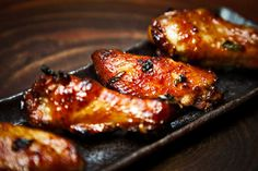 These wings are baked with a sweet and savory sticky sauce. Directions: Add all ingredients, except for the chicken wings to a large bowl and combine well. Add the chicken wings, and combine thoroughly with the sauce. Cover and refrigerate overnight, stirring occasionally. Preheat the oven to 300 degrees. Add the wings to baking sheets […]