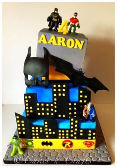 Super hero cake by Angela Gayle