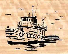 07-T2-3 - Tug Boat Downloadable PDF Scroll Saw Pattern