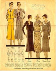 McCall's Style News October 1930--Pattern catalog