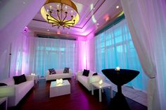 Lounge decor is perfect for a chic and modern wedding style