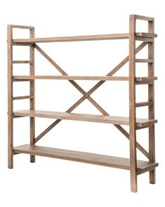 Joanna Bookshelf Sundried Wheat is part of Large Living Room Dimensions - Clean lines and a subtly rustic finish, this bookshelf works great for displaying everything from books to cake stands Some assembly required Reclaimed Wood Bookcase, Rustic Bookcase, Large Bookshelves, Etagere Bookcase, Open Shelves, Ikea Ivar Shelves, Handmade Bookshelves, Storage Shelving, Shelving Ideas
