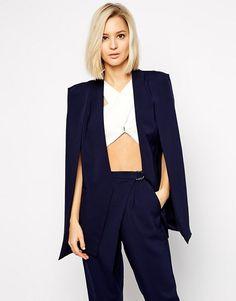 306 Best Blazer, Cape   Coats images in 2019   Wraps, Balmain jacket ... 09187636abaf