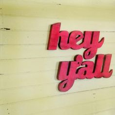 Junk Gypsy Home Decorating   LOVE these hand cut signs made by Etsy seller Slippin' Southern.