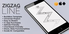 Buy ZigZag Line - Buildbox Template by bravewarriorapps on Codester. Switch your way! Zigzag Line, Zig Zag, Galaxy Phone, App, Templates, Games, Stencils, Apps, Vorlage