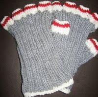 Sock Monkey Fingers Popped Out (wrist warmers)