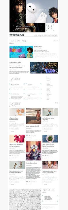 Cartoons-Blog #WordPress Theme. Es sieht simpel und aufregend gleichzeitig aus.