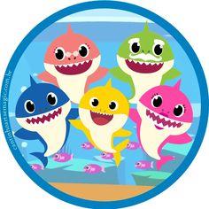 Baby Boy Birthday Themes, Shark Birthday Cakes, Paw Patrol Badge, Shark Logo, Free Printable Birthday Invitations, Shark Party, 3rd Baby, Baby Shark, Bernardo