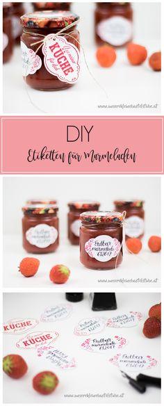 DIY Etiketten für Marmeladen - Konfitüren mit dem Stempelset und Stanze Quartett fürs Etikett von Stampin Up