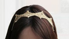 Ravelry: Queen of diamond headband pattern by Chiemi Yamazaki