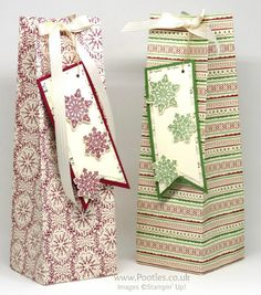 Stampin' Up! Demonstrator Pootles - Extra Huge Christmas Box using This Christmas Speciality Paper